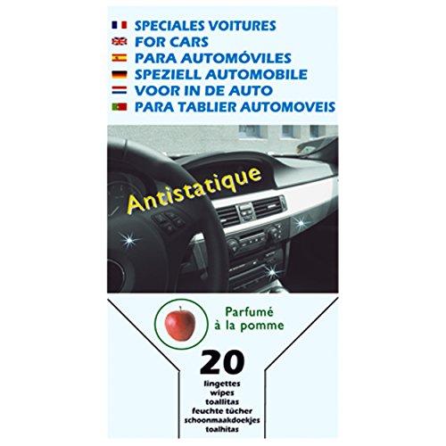 MSV 100141 20 lingettes Auto (Interieur), Viscose/Polyester, Blanc, 16 cm
