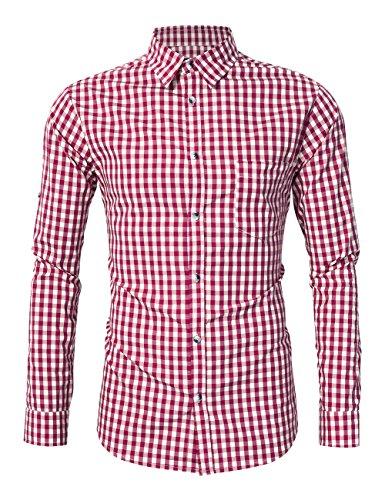 profesional ranking Camisa de manga larga ajustada KOJOOINXS – Camisa tradicional bávara / tirolesa 4XL … elección