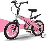 Triciclo Bebé Trolley Trike Bicicleta para niños convenientes, 12/14/16 pulgadas de aleación de magnesio retratable de bebé Cochecito de bebé Modelos de macho y hembra Modelos de bicicleta cómodos
