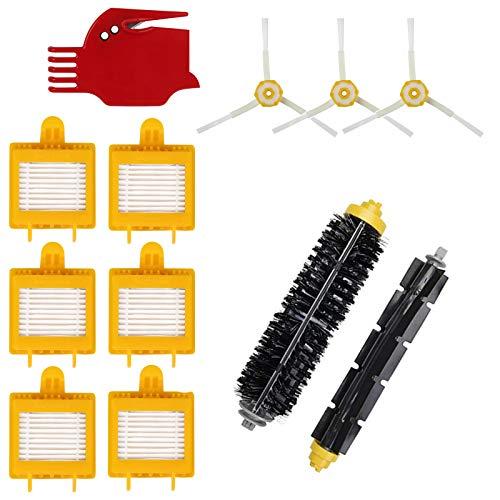 oneforus Reemplazo Accesorios Partes Kit para iRobot Roomba 700 Serie 760/770/780/790-1 Cepillo de Pegamento + 1 Cepillo de cerdas + 3 Cepillo Lateral + 6 HEPA Filtro + 1 Herramienta de Limpieza
