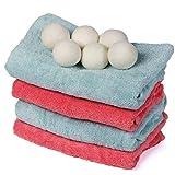 YJX 10 bolas de limpieza para la colada, reutilizables, orgánicas, naturales, suavizantes de tela de lavandería, bolas de secado de lana orgánica, de alta calidad