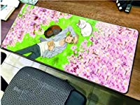 マウスパッド夏目ゆうじんちょうアニメゲーミングマウスパッド大型コンピューターマウスパッドXLマウスパッド滑り止めラバーマウスパッドキーボードデスクマット-90cmx40cm_(A)