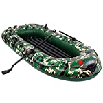 intent_Side 10ft Inflatable Boat Series Explorer Touring Kayak Canoe Boat Set 4-Person PVC Inflatable Rafting Fishing Dinghy Tender Pontoon Boat with Paddles and Air Pump for Water Sports Fun 17 ➤【Qualified Material】: Our inflatable boat is made of durable 3x Layer PVC material which is saline-alkali and sunshine resistance, anti-aging and corrosion resistance, with a soft inflatable floor that is not easily scratched by sharps and provides long-term water entertainment. ➤【No Leak】: Our inflatable boats are Designed with 3 independent air tubes, made from the highest quality 1100D PVC fabric available to ensure your safety. Thermal bonding seams provide first-class air retention and fine manufacturing processes to ensure no leaks which is the mix of security and practicality. ➤【Have Fun on Water】: This is a dinghy that can be rowed, sailed and motored. Take a breath, put this portable dinghy in the truck of your car, take your family or friends, have a pleasant drifting on the lake or a exciting surfing on the sea.