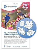 WindowAlert 反衝突デカール - ガラス衝突から野鳥を保護するUV反射窓デカール 1パック リーフ メドレー