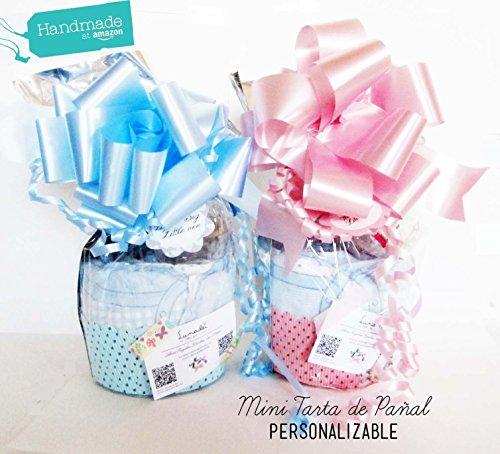 Mini-Tarta de Pañales con Chupete SUAVINEX | Personalizable con nombre bebé y Accesorios PREMIUM a Elegir | Baby Shower Gift Idea | Ideal para niñas o niños