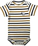 East Club London Unisex Baby-Strampler im Streifen-Look White-Yellow, 0/3