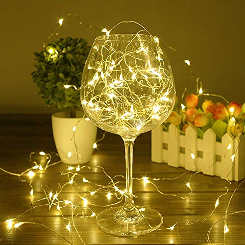 Luces LED de cuento de hadas a prueba de agua fiesta familiar luces LED luces decorativas de cadena A1 5m50 leds batería
