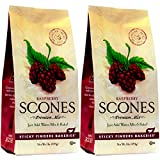 Sticky Fingers Bakeries, English Scone Mix, Raspberry, Just Add Water, Mix, and Bake. Makes 12 Scones (Pack of 2)