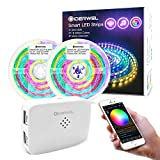 GIDERWEL 32.8ft WiFi Smart Dreamcolor LED Strip Lights Kit Work with Alexa/Google Assistant,APP/Voice Controlled 300LEDs Dynamic Addressable RGBIC Strips Color Change,Music Activated Alexa LED Strip