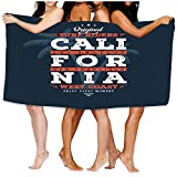 Yocmre Toalla de Playa Natación, Surf, Gimnasio, California Surf Riders Tipografía Laboratorio de Sellos