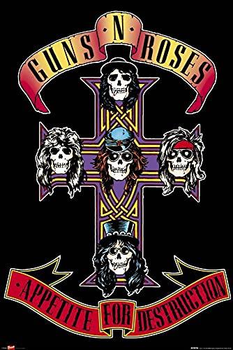 1art1 Pôster do Guns N' Roses - Apetite pela Destruição (91 x 61 cm)