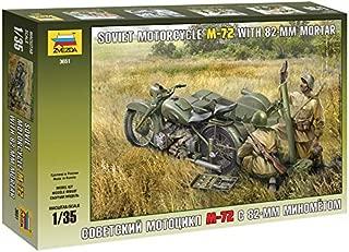 Zvezda 3651 Soviet Motocycle M72 W/mortar 1:35 Plastic Kit