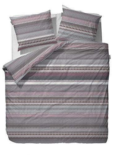 Vanezza Flanell Bettwäsche Efie neutral 1 Bettbezug 135x200 cm + 1 Kissenbezug 80x80 cm