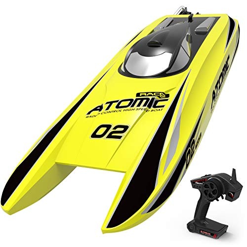 VOLANTEXRC Brushless Remote Control Boat Atomic 42mph High-Speed RC Boat Ready to Run for Adults & Kid (792-4)