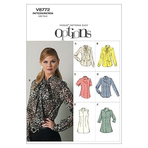 Vogue VGE 8772 E5 (14-16-18-20-22) naaipatroon, elegant, extravagant, modieus