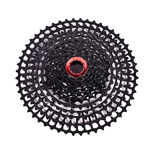 JFOYH 2021 Ultra Light Series 10/11/12 Speed Cassette Mountain Bicycle Freewheel46T/50T/52Tfor MTB(12S52T, Black)
