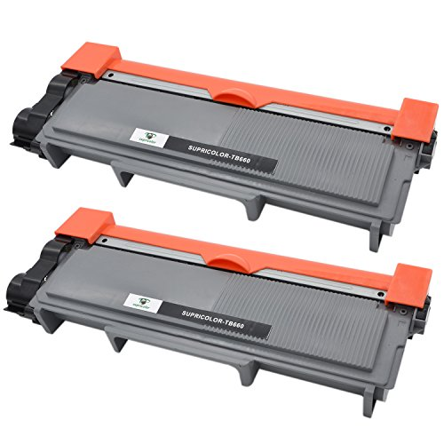 Supricolor 2 Pack TN660 Toner cartridges tn660 Toner TN660 TN630 Replacement Compatible with HLL2320D MFC 2700dw HLL2340dw L2740dw L2520dw L2540dw HL L2360dw HLL2380dw HLL2300D