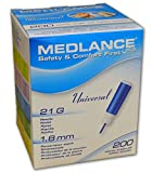 Medlance Plus Universal 21G Safety Lancets 200/bx