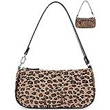 Shoulder Bag Purse Tote Clutch Handbag with Zipper Closure for Women (Leopard Brown)