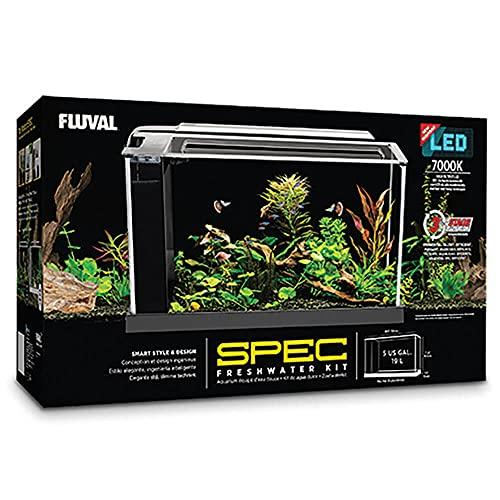 Fluval SPEC Aquarium Kit, Aquarium with LED Lighting and 3-Stage...