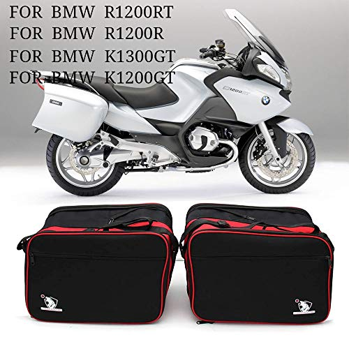 Luggage bag is suitable for Pannier Liner BMW R1200RT R1200GT R1200R K1300GT motorcycle luggage bag black/red expandable inner bag