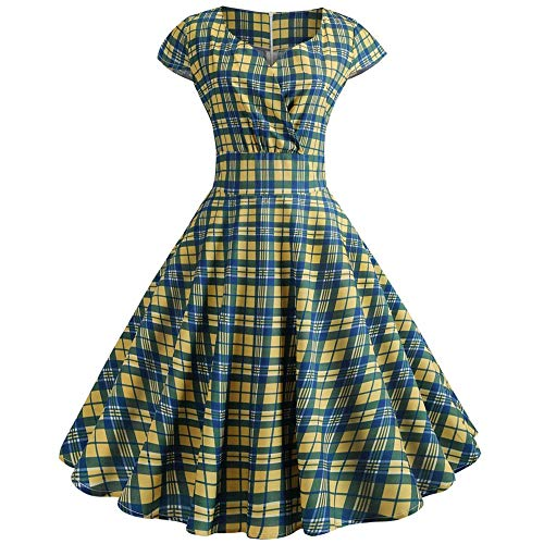 kemilove 2019 New Womens Summer Bohemian Printed Tight Waist V-Collar Chiffon Beach Dresses