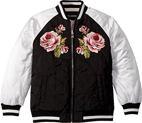 Dolce & Gabbana Kids Girl's Down Jacket -Short (Little Kids) Black 6 (Little Kids)