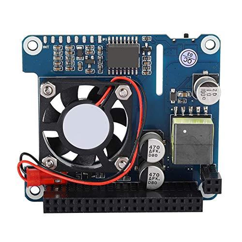 Placa de expansión Módulo de refrigeración Módulo de ventilador de refrigeración Alimentación Placa de expansión Ventilador 0,91 pulgadas para alimentación Ethernet POE Compatible con Pi 4B