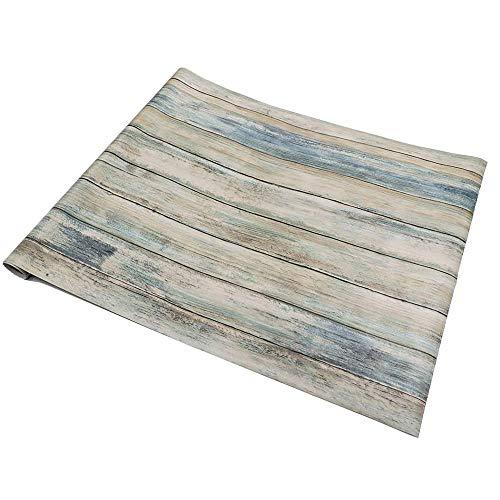 Azul Papel Adhesivo Madera 30cm X 200cm Removible Decorativo Muebles De Interior Papel Pintado Adhesivo para Pared...