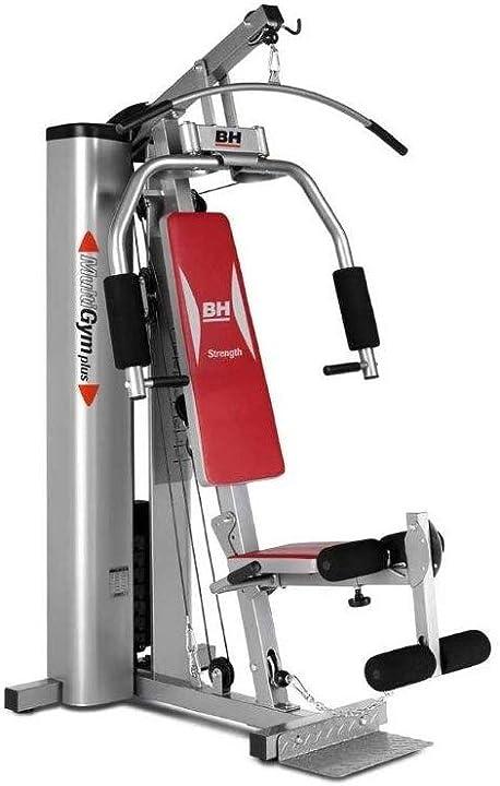 Stazione gym multifunzione più di 15 esercizi grigio/rosso bh fitness multigym plus g112x B007N8WW1C