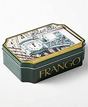 Frango Easter Milk Chocolate Mints in Metal Tin  14 Oz  Embossed Tin With Photo Of The Famous Chicago Marshall Field s Clock.