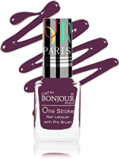 Coat Me Bonjour Paris Satin Matte Finish Long-Lasting Nail Polish with Quick Dry Formulation (Dark Purple) 9 ml