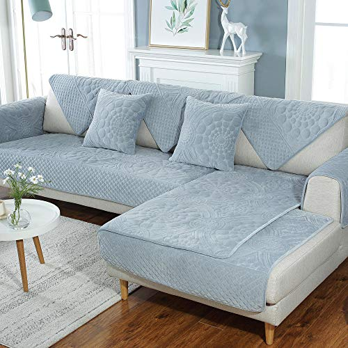 Hybad slaapbank dekbedovertrekken, pluche bank saver beschermer, moderne anti-slip bank cover voor woonkamer, dikker Sofa Seat Cover,bank cover throw-grey_110*240cm