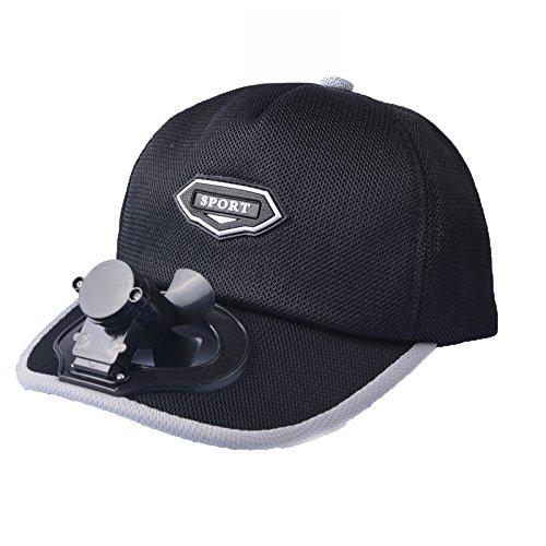 CAP Ventilator, Der Hut Abkühlt USB, Der Im Freienreisesonnenschutz-Sonnenschutzmittel Breathable Baseballgolfhut Auflädt,Black