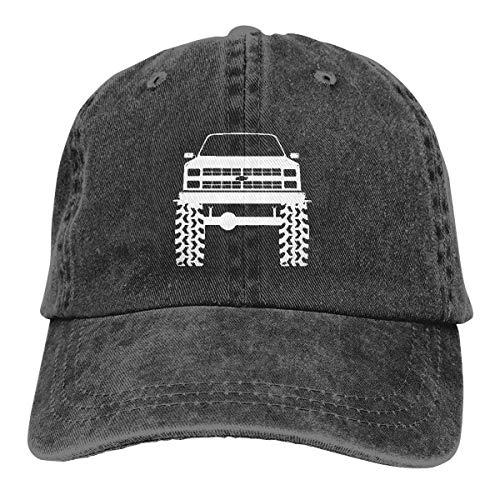 Blazer K5 Anni '80 Anni '80 Furgone Sollevato Pneumatici Camion Cappellini da Baseball Regolabili Cappelli in Denim Cowboy Sport Outdoor Nero