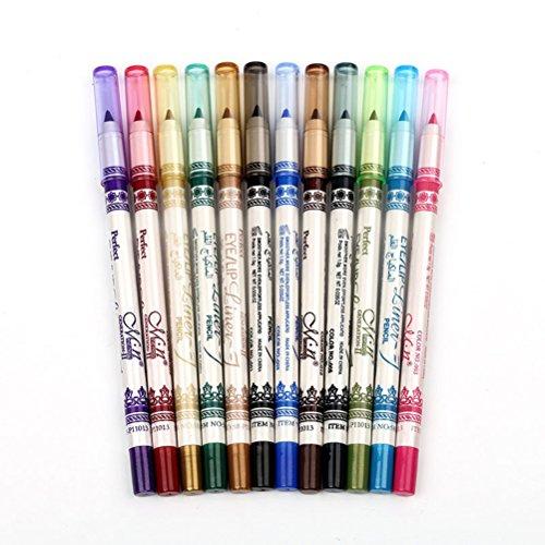 Frcolor 12 Farben Eye Liner Pencil Kajalstifte Augen Liner Lippenkonturenstift Lip Liner Pencil Set