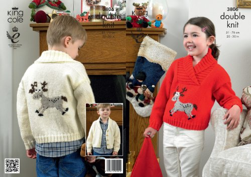 King Cole DK Knitting Pattern - 3806 Christmas Sweaters