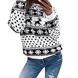 LILICAT Vêtements Flocon de Neige de Noël Couture Beau Pull à Capuche Pull Pull Pull à Capuche,Femmes Dames Nouveau Unisexe Noël Renne Flocon De Neige Nouveauté Tricoté Unisexe Xmas Pull Chandail Haut