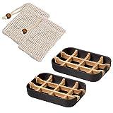 Queta Seifenschale, 2 Stück nachhaltig Seifenschalen/Seifenhalterung mit Abtropfwanne aus...