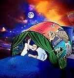 Kids Dream Bed Tent Twin Size - Deluxe Space Adventure & Dinosaur Island & Unicorn &...
