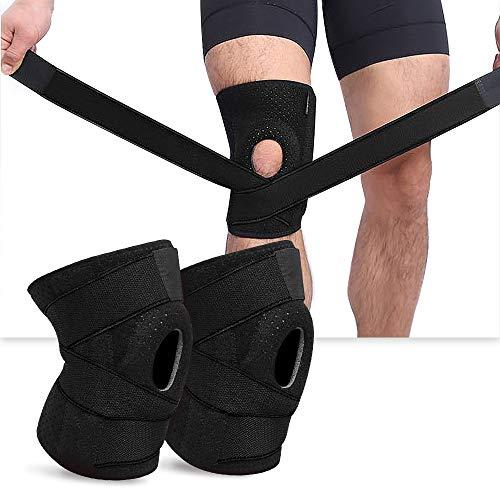 BestCool Sport Kniebandage, 2 Stück Kompression Knieschoner Atmungsaktiver Knieschoner für Fußball, Joggen oder Fitness, Sportbandagefür Damen und Herren