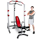 MARCY Deluxe Power Rack MD-8851R – Appareil de musculation multifonction à charge guidée - Banc de Musculation – Leg...
