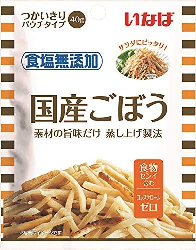 いなば食品 食塩無添加 国産ごぼう 40g ×10個