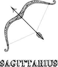 Sagittarius: Coloring Book with Three Different Styles of All Twelve Signs of the Zodiac. 36 Individual Coloring Pages. 8.5