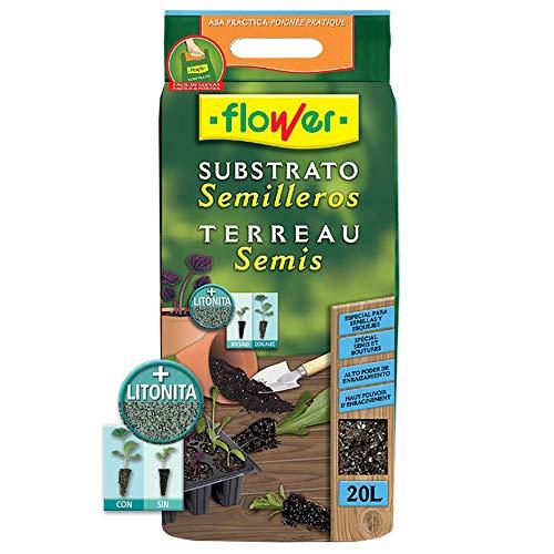 Flower 80049 80049-Substrato semilleros, 20 l, No aplica, 30x5x55 cm