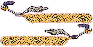 Plymouth Road Runner Dust Trail Pair Large Decal is 12