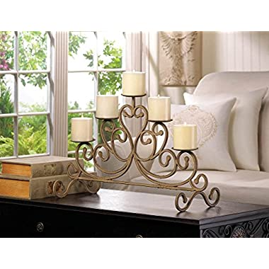 VERDUGO GIFT Antiqued Iron 5-Candle Stand