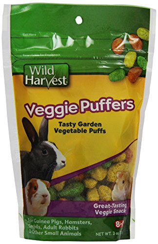 Wild Harvest Veggie Puffers For Small Animals, 3-Ounce (P-84142)