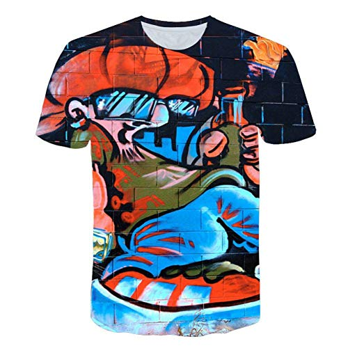 RCFRGV 3D T shirt T-shirt Graffiti Hip Hop Shirt Abstract Shirts Casual 3D Print Street T-Shirt Skateboard Marvel T Shirt