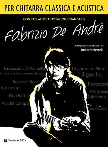 Fabrizio De André per chitarra classica/acustica. Spartito
